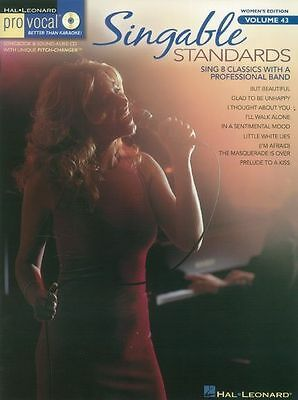 Pro-Vocal Womens Edition Singable Standards Sing VOICE Audition Music Book & CD