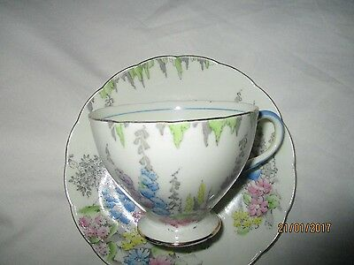 1930s Vintage Foley  Bone  China  small  cup and  saucer.