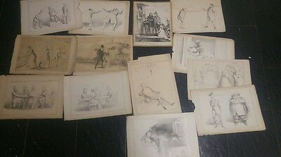 Antique Mclean John Doyle Hb Sketches collection of 13
