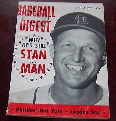Baseball Digest August  1957  Stan Musial