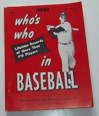 Who's Who in Baseball 1961 Roger Maris