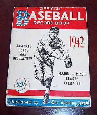 The Sporting News Official Baseball Record Book 1942