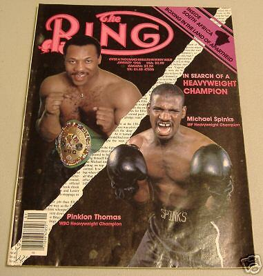 boxing  ring magizine jan1986 micheal spinks