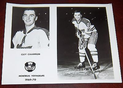 Montreal Voyageurs 1969 - 1970 Guy Charron from the Woody Ryan Collection