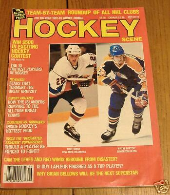 hockey scene 1982-83 winter annual/gretzky/bossy/cover