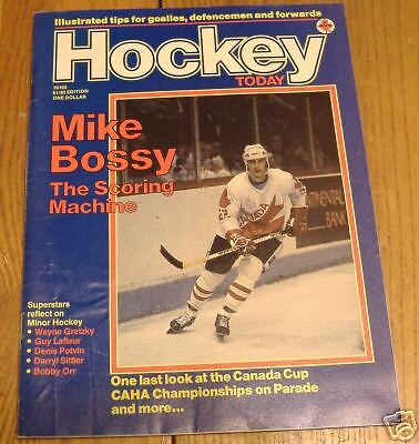 hockey  today 1981-82  mike bossy cover