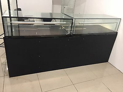 Glass display counter cabinet unit 2x 120cm
