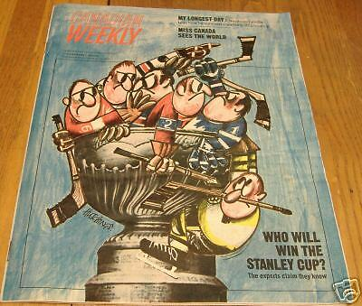 canadian weekly magizine  oct 23-29 1965 stanley cup