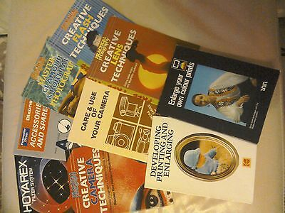 Bundle of Vintage Photography Books/ leaflets from 1970s. Great Condition.