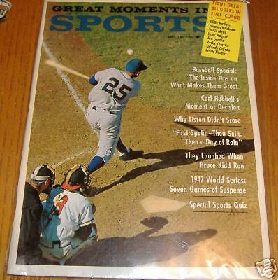baseball   great moments in sports  sept 1963