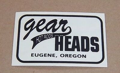 Decal / Sticker  Gear Heads Hot Rods