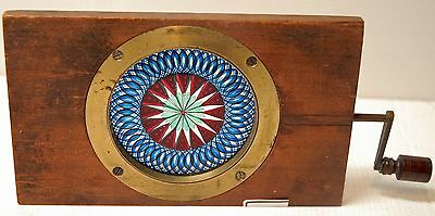 "MAGIC LANTERN- Belle  plaque en verre ""PEINTE""- LONDON - CHROMATROPE - 1840/50"