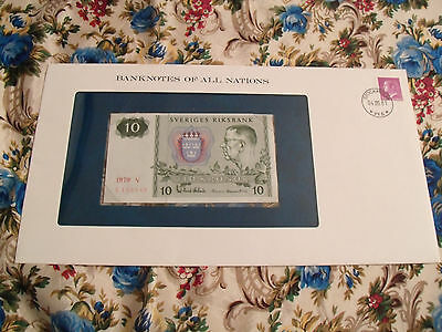 Banknotes of All Nations Sweden 10 Kronor 1979 serie V P52d UNC BIRTHDAY 1985