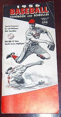 Baseball handbook and schedules 1956 Mickey Mantle