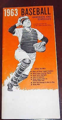 Baseball handbook and schedules 1963 Willie Mays  / Mickey Mantle