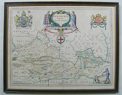 Berkshire: antique map by Johan Blaeu, 1645 and later