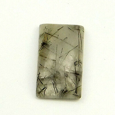 7.80 cts Natural Untreated Rutilated Quartz Gemstone Octagon Loose Cabochon