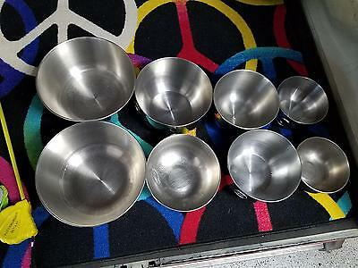 Lot Of 8 Stainless Steel Mixing Bowls