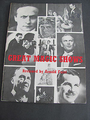 1968 Great Magic Shows Arnold Furst SIGNED Houdini