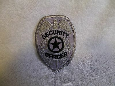 Security Officer (silver with black letters) badge patch-Company Closed