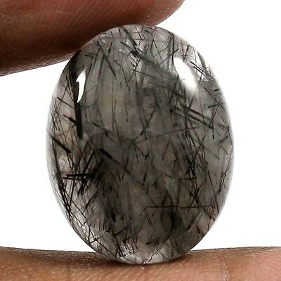 24.05 cts 100% Natural Beautiful Rutilated Quartz Gemstone Oval Loose Cabochon
