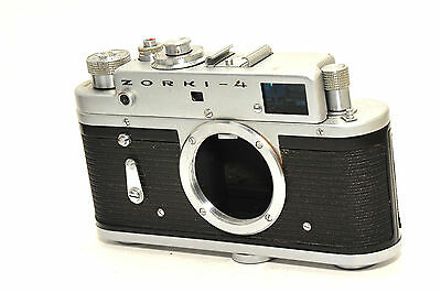 Zorki 4 rangefinder camera body based on Leica,  after CLA services, from 1972