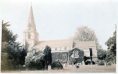 Deene Church Nr Corby sepia unused RP old postcard Valentines