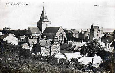 Dornoch from N W unused RP old postcard by Valentines 21069