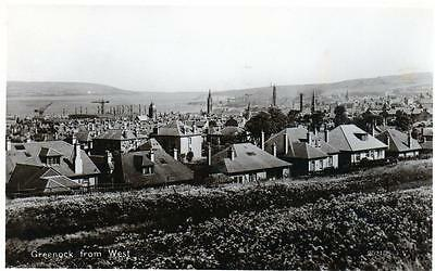Greenock from West RP old postcard pu 1930