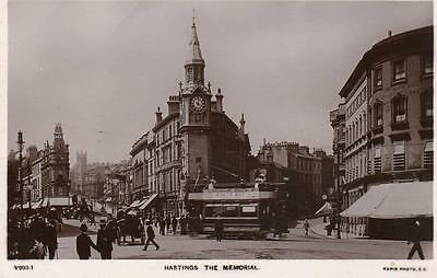 Hastings from the Memorial Tram (B)  RP pc used 1907 Rapid