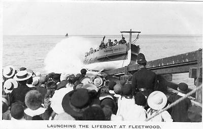 Launching of the Lifeboat Maude Pickup at Fleetwood RP old pc used 1911