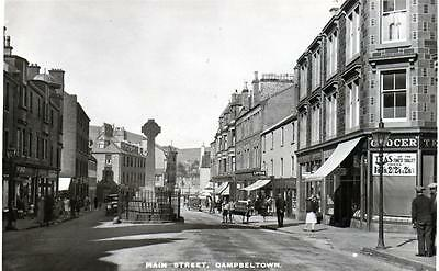 Main Street Campbeltown (A) unused RP old postcard