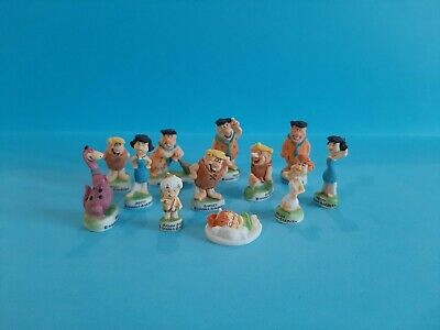 Retired Miniature Porcelain,the Gold Trimmed Flintstones Collection *mint*