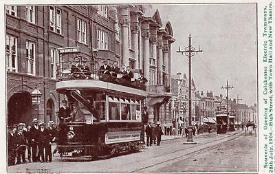 Opening Colchester Electric Tramways 1904 Tram Theatre used pc W Gill