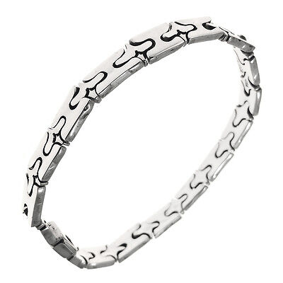 950 Sterling Silver Puzzle Bracelet 7.5"
