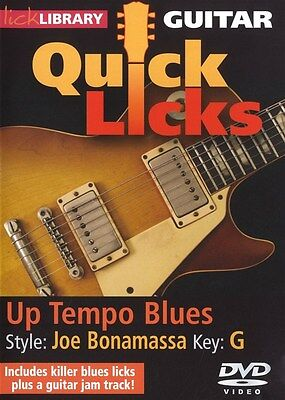 Lick Library Quick Licks UP TEMPO BLUES STYLE JOE BONAMASSA Guitar Video DVD