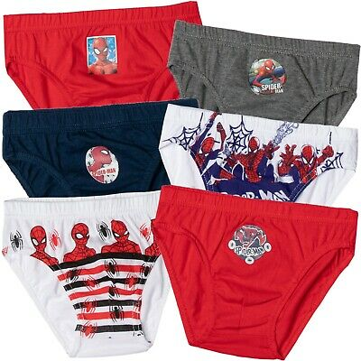 Spiderman Marvel 3-PACK Cotton Boys Briefs Knickers Underwear Boxers SET 2-8 Yrs