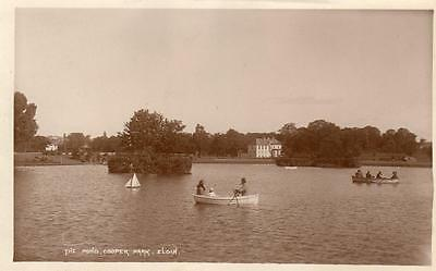 The Pond Boating Cooper Park Elgin RP pc used 1920's