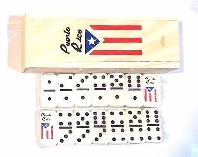 LOT OF 6 Puerto Rico Flag Double Six Dominos Dominoes Rican * TRAVEL SIZE *