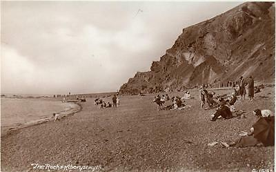 The Rocks Aberystwyth RP old pc used 1927 WHS Kingsway