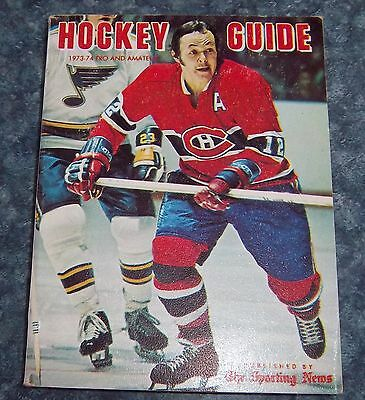 The Sporting News Pro & Amateur Hockey Guide 1973-74   Yvon Cournoyer