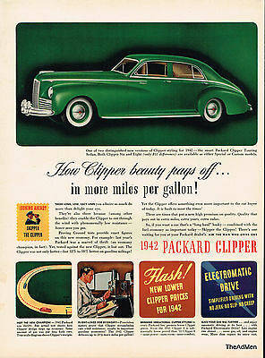 1942 Packard Clipper Ww2 Laminated Ad Art Same Day Shipping!!