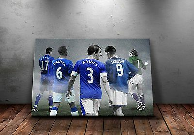 Everton FC 'Legends' Wall Canvas A3