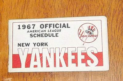 New York Yankees schedule 1967 official american league schedule