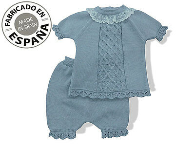 BABY GIRLS/BOYS SPANISH 2 PIECES SET SUMMER OUTFITS 0-3 MONTHS and 3- 6 MONTHS