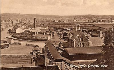 Barnstaple General View Railway Station unused old pc Frith