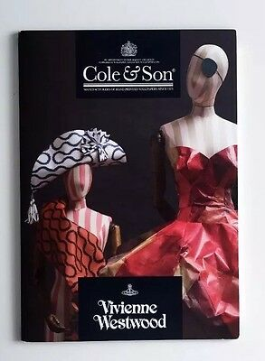 Rare Vivienne Westwood Cole & Son 'Squiggle' Wallpaper Fold Out Card Lookbook