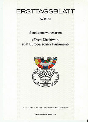 Stamp 1979 Germany European Parliament Special Post Brochure Information Sheet