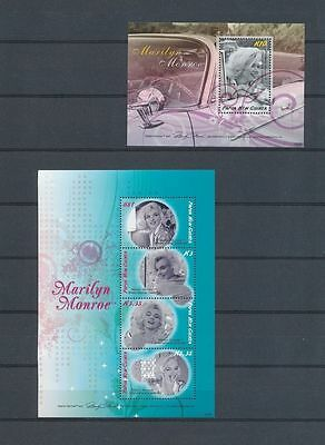 Stamps Papua New Guinea 2 Finest Marilyn Monroe Sexiest Babe Mini Sheets MNH