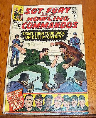 sgt. fury and his howling commandos  # 22 marvel comics